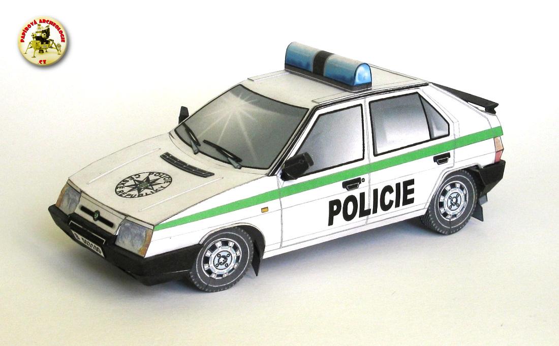 Škoda Favorit 136 L - Policie