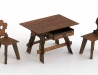 Staročeská jizba - stůl a židle