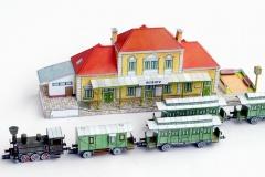 Nádraží Ríšov a vlak