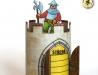 Rozvrh hodin - hradební věž se zbrojnošem