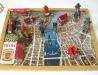 Modely z pohlednic na mapě Prahy