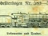 Lokomotive und Tender – 583–585